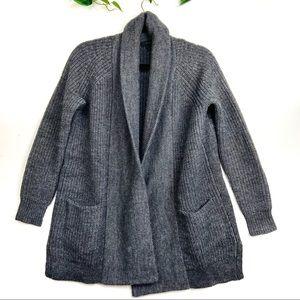J Crew Size Wool Alpaca Grey Cardigan Open Front
